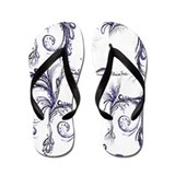Purple Tears Flip Flops