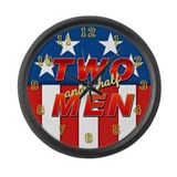Two and half men.png Large Wall Clock