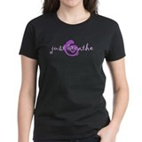 just breathe purple Tee