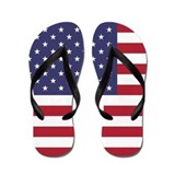 US Flag Stretched Flip Flops