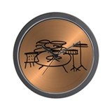 Cute Drummer Wall Clock