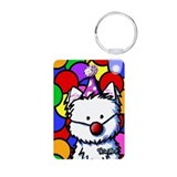Birthday Westie Aluminum Photo Keychain