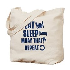 Eat Sleep Muay Thai Tote Bag