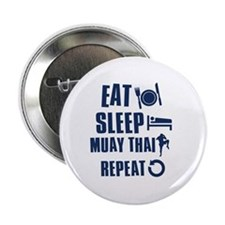 "Eat Sleep Muay Thai 2.25"" Button (100 pack)"