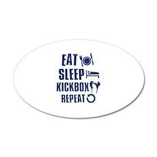 Eat Sleep Kickbox 22x14 Oval Wall Peel