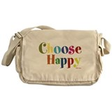 Choose Happy Messenger Bag