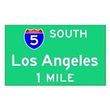 Los Angeles Exit Sign Rectangle Decal