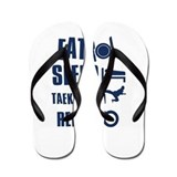 Eat Sleep Taekwondo Flip Flops