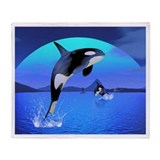 Orca 1 Throw Blanket