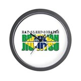 Eat Sleep Brazilian Jiu Jitsu Wall Clock