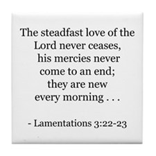 Lamentations 3:22-23 Tile Coaster