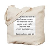 Lamentations 3:22-23 Tote Bag