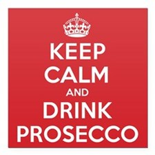 "K C Drink Prosecco Square Car Magnet 3"" x 3"""