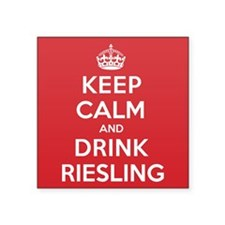 "K C Drink Riesling Square Sticker 3"" x 3"""