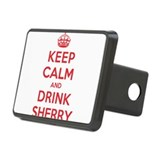 K C Drink Sherry Rectangular Hitch Cover