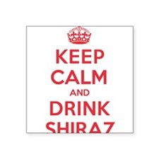 "K C Drink Shiraz Square Sticker 3"" x 3"""
