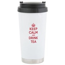 K C Drink Tea Ceramic Travel Mug
