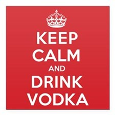 "K C Drink Vodka Square Car Magnet 3"" x 3"""