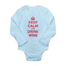 K C Drink Wine Long Sleeve Infant Bodysuit