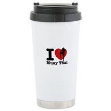 Muay Thai Heart Designs Ceramic Travel Mug