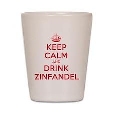 K C Drink Zinfandel Shot Glass