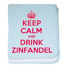 K C Drink Zinfandel baby blanket