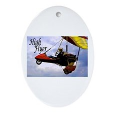 High Flyer Oval Ornament