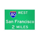 San Francisco Exit Sign Rectangle Magnet