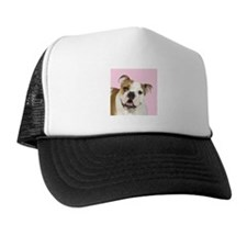 Pink Bulldog Trucker Hat