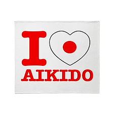 Aikido Flag Designs Throw Blanket