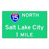Salt Lake City Exit Sign Rectangle Decal