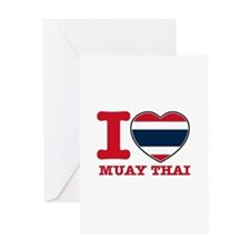 Muay Thai Flag Designs Greeting Card