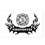 Fire Dept Firefighter Tattoos Postcards (Package o