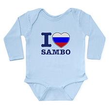 Sambo Flag Designs Long Sleeve Infant Bodysuit