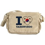 Taekwondo Flag Designs Messenger Bag