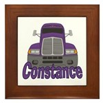 Trucker Constance Framed Tile