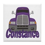 Trucker Constance Tile Coaster