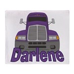 Trucker Darlene Throw Blanket