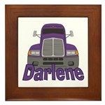 Trucker Darlene Framed Tile