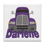 Trucker Darlene Tile Coaster