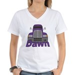 Trucker Dawn Women's V-Neck T-Shirt