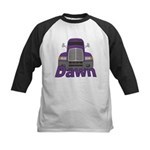 Trucker Dawn Kids Baseball Jersey