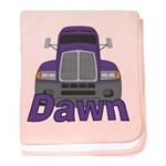 Trucker Dawn baby blanket
