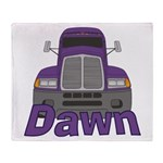 Trucker Dawn Throw Blanket