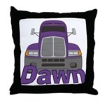 Trucker Dawn Throw Pillow