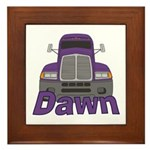 Trucker Dawn Framed Tile