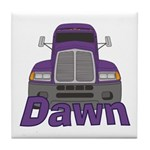Trucker Dawn Tile Coaster