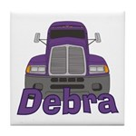 Trucker Debra Tile Coaster