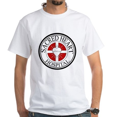 Sacred Heart Hospital White T-Shirt