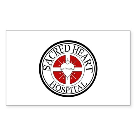 Sacred Heart Hospital Rectangle Sticker
